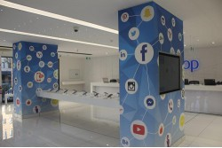 Visual elements of the new iWay store