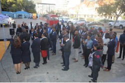 Customers and staff attended the opening of the iWay store in Windhoek